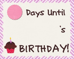 Birthday Count Down