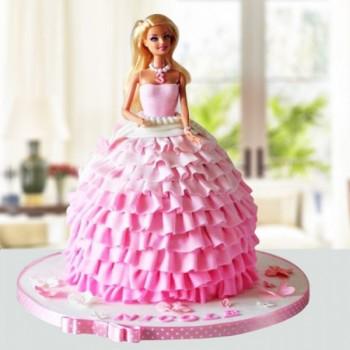 Pink Blush Barbie Cake