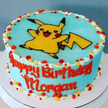 Happy Pokemon Cake