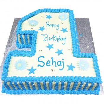 One Number Birthday Cake
