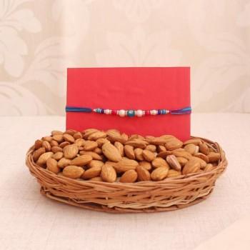 Rakhi with Almond Basket