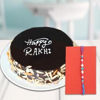Truffle Almond Cake with Rakhi