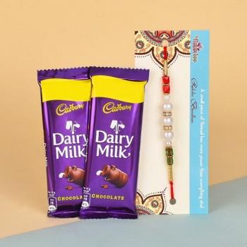 Rakhi with 2 Chocolates