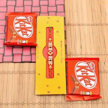 Rakhi with 2 Kitkat