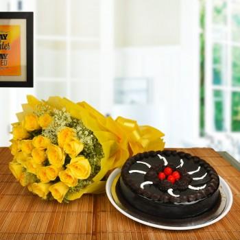 Yellow Roses N Truffle