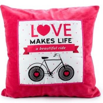 Love Makes Life a Beautiful Ride Cushion