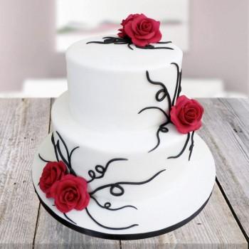 Supreme Vanilla 2 tier cake