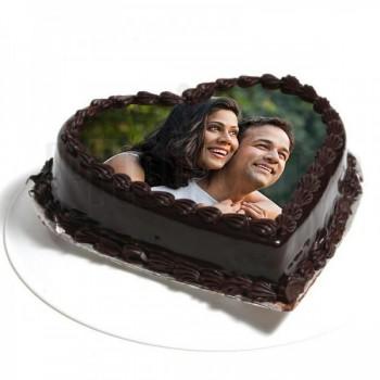 Heart Shape Photo Truffle Cake