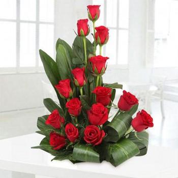Red Roses Basket Arrangement