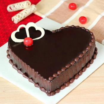 Heart Shape Sugar Free Truffle Cake