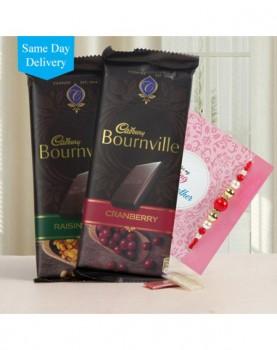 Rakhi with 2 Bournville Chocolates