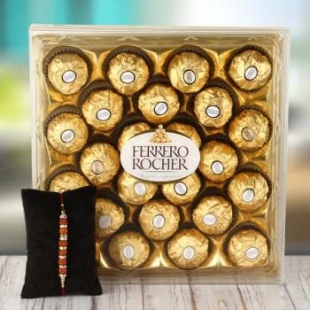 Rakhi with 24pcs Ferrero Rocher