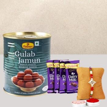 Rakhi, Dairy Milk and Gulab Jamun