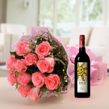 Pink Roses and Wine