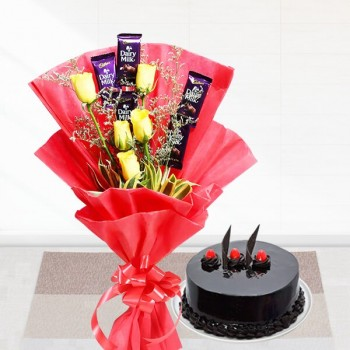 Chocolates Roses n Cake