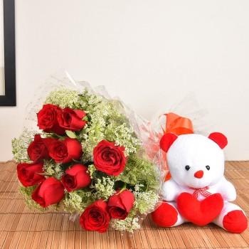 Red Roses n Teddy