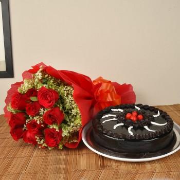 15 Red Roses n Truffle