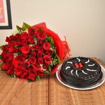 50 Red Roses n Truffle