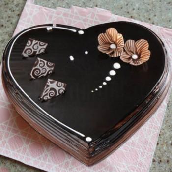 Heart Shaped Truffle Cake