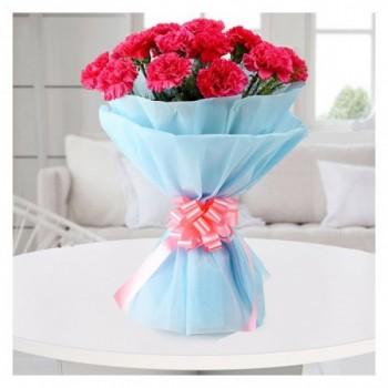Pink Divine - 15 Carnations
