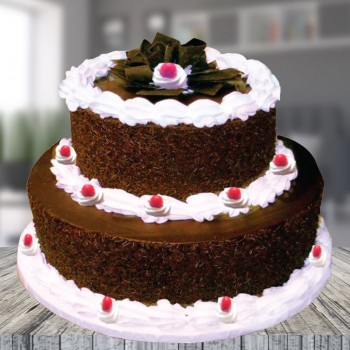 2 Tier Black Forest Cake
