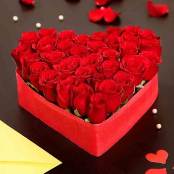 Heart Roses Arrangement