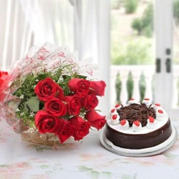 Red Roses N Black Forest